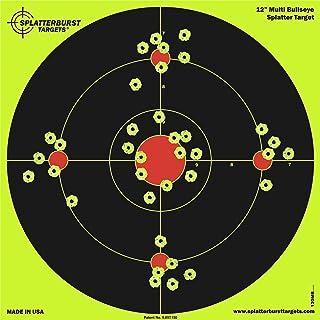 Splatterburst Targets – 12 inch Multi-Bullseye Reactive Shooting Target –..