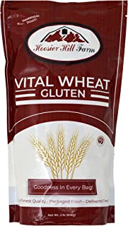 Hoosier Hill Farm Vital Wheat Gluten, High in Protein, NON-GMO 2 lb Great for Vegan recipes, Seitan and Keto Bread, Pizza ...