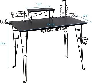 Atlantic Gaming Original Gaming Desk – 32 inch TV Stand, Charging Station,..