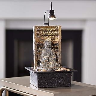 "John Timberland Namaste Zen Buddha Tabletop Water Fountain 11 1/2"" Waterfall with.."