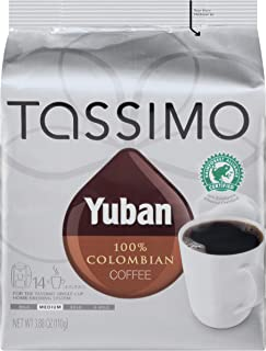 Yuban Colombian Medium Roast Coffee T-Discs for Tassimo Brewing Systems (14 T-Discs)