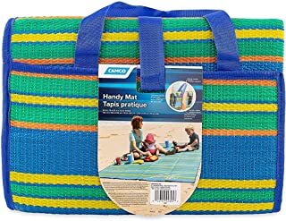 Camco Handy Mat with Strap, Perfect for Picnics, Beaches, RV and Outings, Weather-Proof..