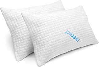 2 Pack Shredded Memory Foam Bed Pillows for Sleeping – Bamboo Cooling..