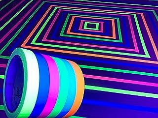 GreyParrot Tape UV Tape Blacklight Reactive, (6 Pack), (6 Colors), 33ft Per Roll,..