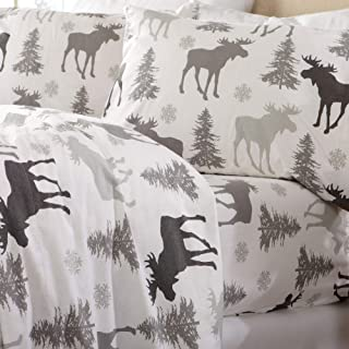Home Fashion Designs Flannel Sheets King Winter Bed Sheets Flannel Sheet Set Moose..