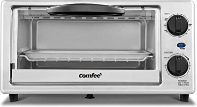 COMFEE Toaster Oven Countertop, 4-Slice, Compact Size, Easy to Control with..