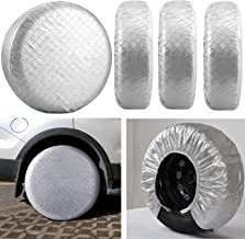 Kohree Tire Covers for RV Wheel Covers Motorhome Tires Set of 4, Waterproof UV Sun Tire..