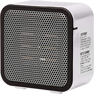 AmazonBasics 500-Watt Ceramic Small Space Personal Mini Heater – White