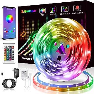 LED Strip Lights, KIKO Smart Color Changing LED Lights 16.4ft/5m SMD 5050 RGB Light..