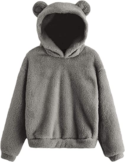 cozy bear sweater gray grey