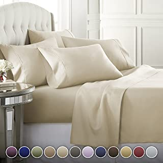 Danjor Linens 6 Piece Hotel Luxury Soft 1800 Series Premium Bed Sheets Set, Deep Pockets,..
