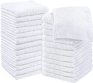 Utopia Towels Cotton White Washcloths Set – Pack of 24 – 100% Ring Spun..