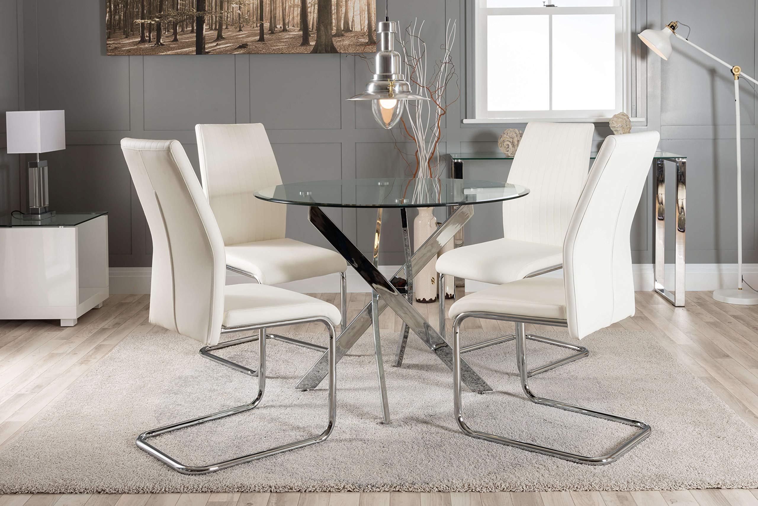 Furniturebox Uk Novara Chrome Metal Roun Buy Online In Bahamas At Desertcart