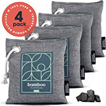 Bamboo Charcoal Air Purifying Bag 4-Pack – Naturally Freshen Air with Powerful..