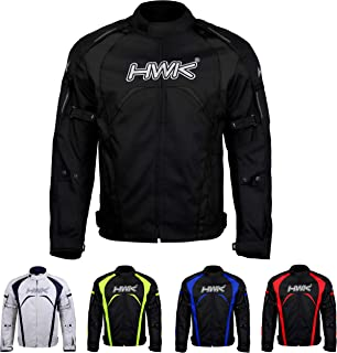 Motorcycle Jacket Men's Riding HWK Textile Racing Motorbike Hi-Vis Biker CE Armored..