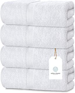 Luxury White Bath Towels Large – 700 GSM Circlet Egyptian Cotton | Absorbent Hotel..