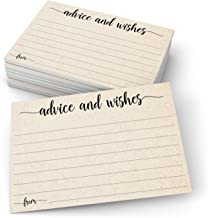 "321Done Advice and Wishes Cards (50 Cards) 4"" x 6"" Blank Well Wishes for.."