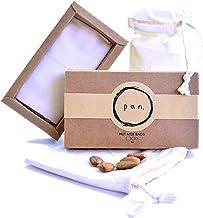 3pk 100% Organic Cotton, Reusable, Durable, Natural, Finest Quality High Grade Mesh Nut..