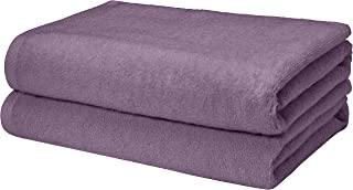 AmazonBasics Quick-Dry, Luxurious, Soft, 100% Cotton Towels, Lavender – Set of 2 Bath Towels