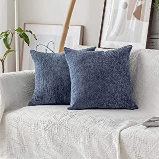 Home Brilliant Cushion Cover for Chair Decor Striped Plush Chenille Velvet Supersoft..