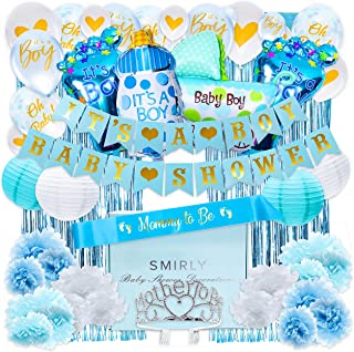 Baby Shower Decorations for Boy Kit: Boys Baby Shower Party Supplies Bundle with Blue,..
