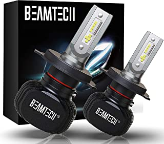 BEAMTECH H4 LED Bulb, 50W 6500K 8000Lumens Extremely Brigh (9003 Hi/Lo) CSP Chips..