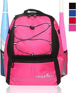 Athletico Youth Baseball Bag – Bat Backpack for Baseball, T-Ball & Softball..
