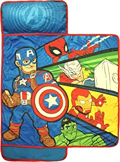 Marvel Super Hero Adventures Avengers Nap Mat – Built-in Pillow and Blanket..