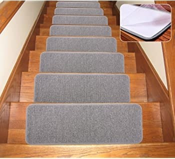 Amazon Com Seloom Carpet Stair Treads Non Slip Indoor Set Of 13 | Hardwood Floors With Carpeted Stairs | Wall To Wall Carpet | Painting | Laminate Hall Carpet | Carpet Covered | Carpet Wrapped