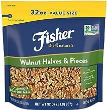 FISHER Chef's Naturals Walnut Halves & Pieces, 32 oz, Naturally Gluten Free, No..