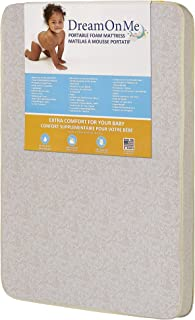"Dream On Me, 3"" Foam Pack and Play Mattress, White"