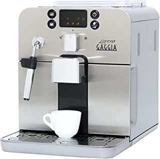 Gaggia Brera Super Automatic Espresso Machine in Silver. Pannarello Wand Frothing for..
