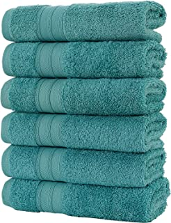 Hammam Linen 100% Cotton Hand Towels Soft and Absorbent, Premium Quality (16×28 6..