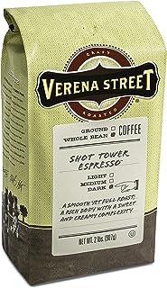 Verena Street 2 Pound Espresso Beans, Shot Tower Espresso Whole Bean, Rainforest Alliance..