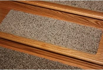 Koeckritz Rugs Dog Assist Carpet Stair Treads Painted Tan 9   Painted Stairs With Carpet Treads   Carpet Covered   Bare Wood   Design   Carpeting   Charcoal Grey