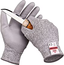SAFEAT Safety Grip Work Gloves for Men and Women – Protective, Flexible, Cut Resistant,..