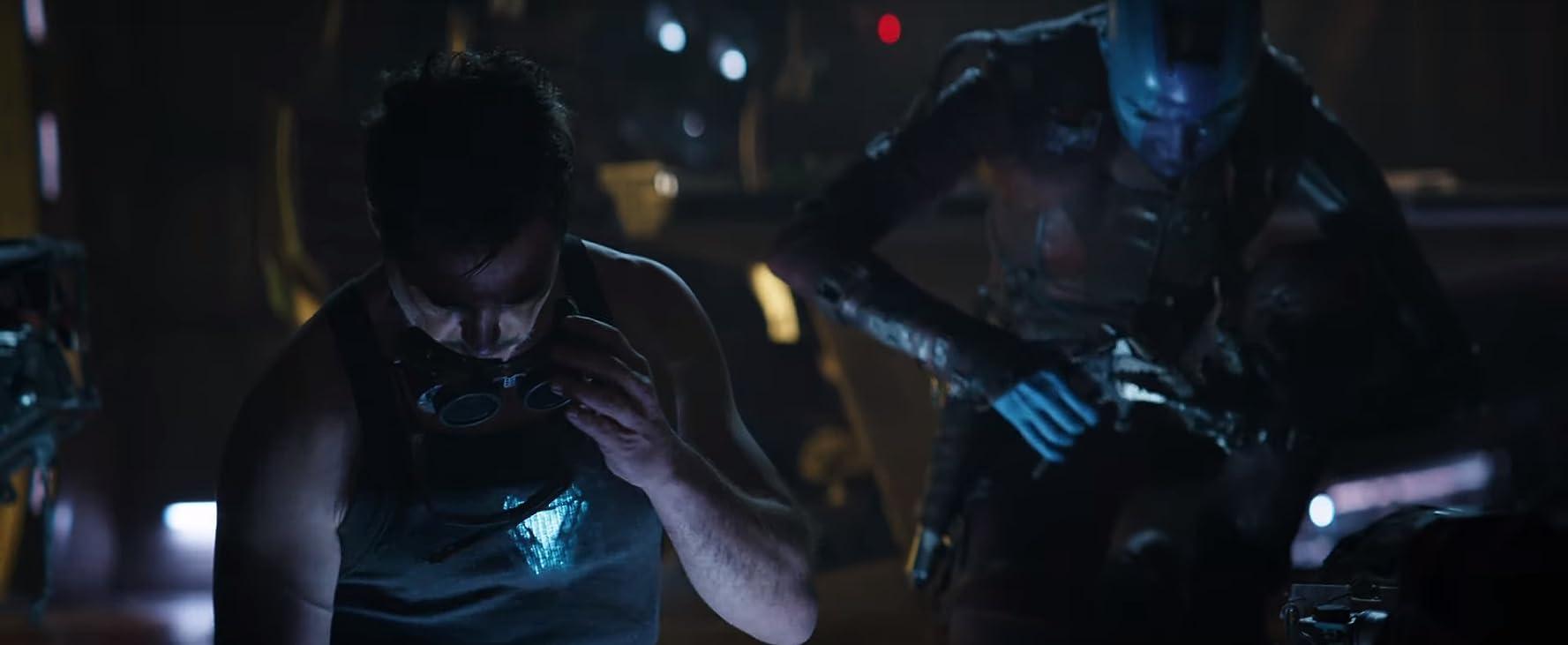 Robert Downey Jr. and Karen Gillan in Avengers: Endgame (2019)
