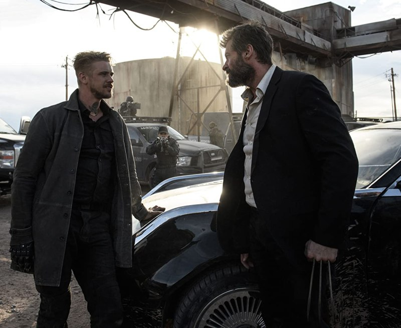 Hugh Jackman and Boyd Holbrook in Logan (2017)