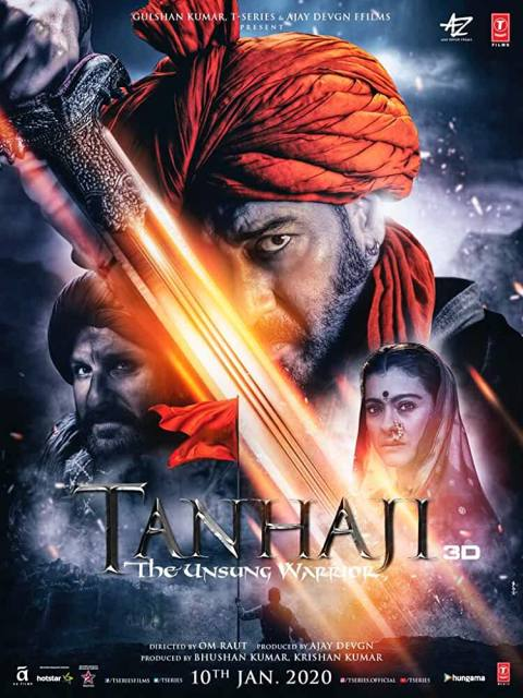 Download Tanhaji The Unsung Warrior (2020) Full Movie In Hindi Bluray 480p [400MB] | 720p [1GB] | 1080p [2GB]
