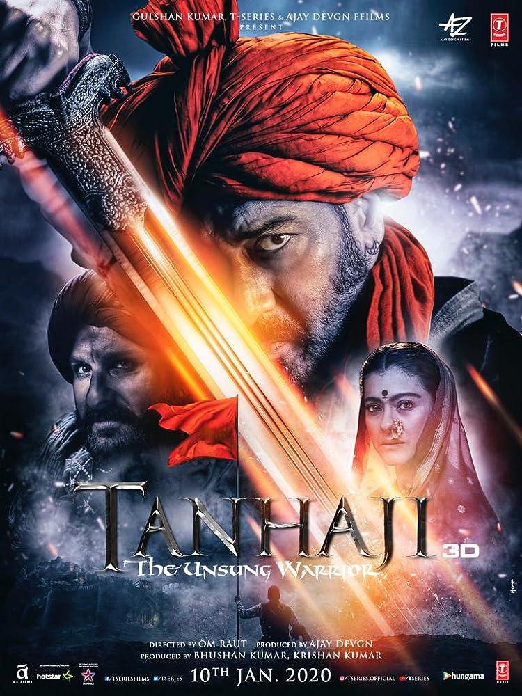 Tanhaji: The Unsung Warrior 2020 Hindi Movie HS WebRip 300mb 480p 1GB 720p 1.7GB 1080p
