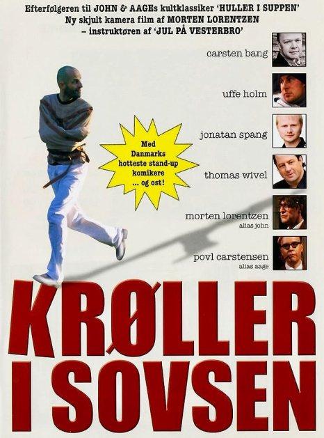 Povl Erik Carstensen, Morten Lorentzen, Uffe Holm, Carsten Bang, Thomas Wivel, and Jonatan Spang in Krøller i sovsen (2007)