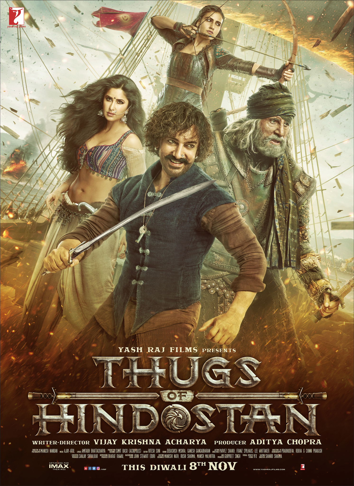 Thugs of Hindostan (2018) Hindi Blu-Ray - 480P | 720P - x264 - 400MB | 1.3GB - Download & Watch Online Movie Poster - mlsbd