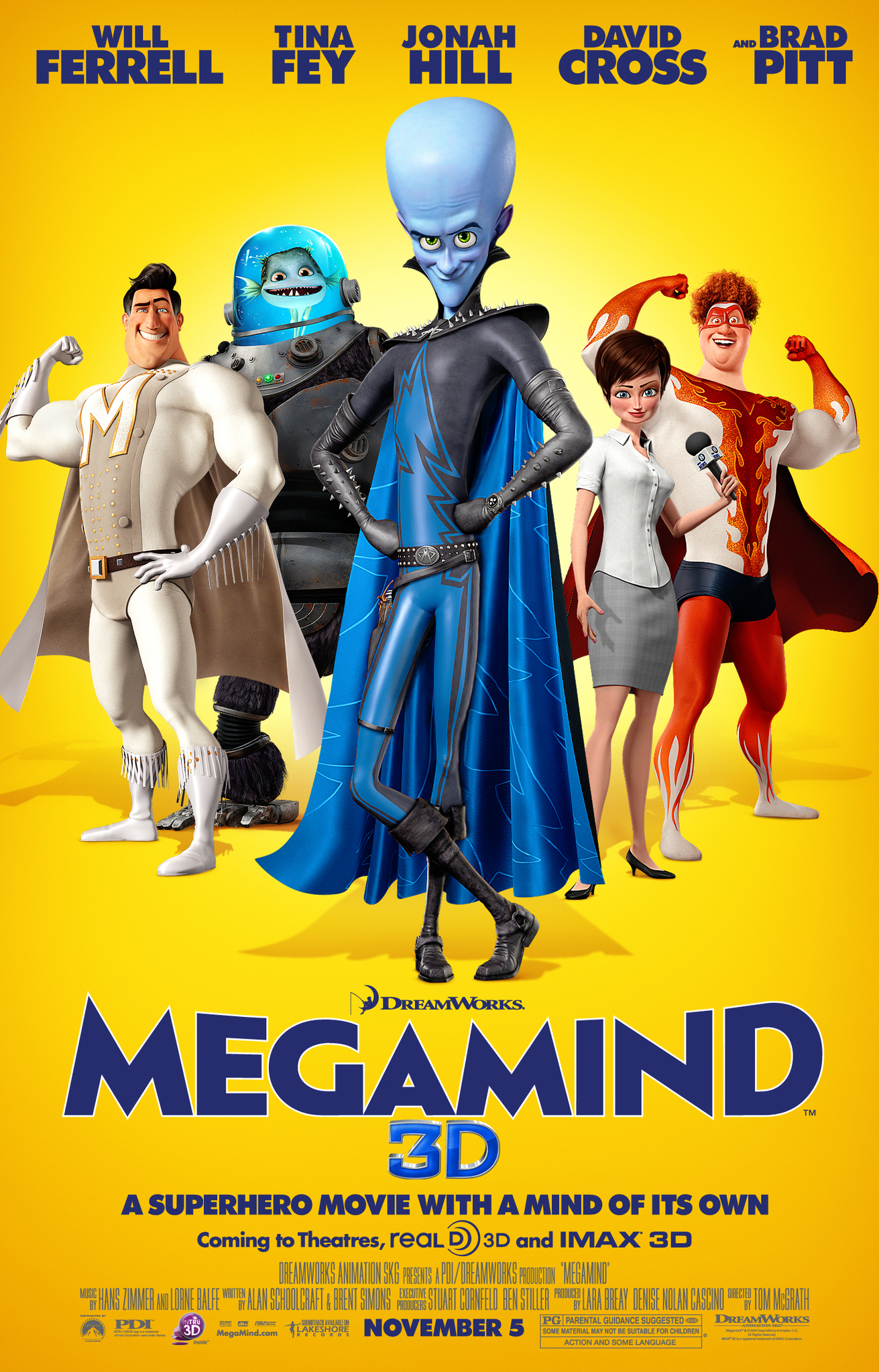 Download Megamind (2010) Dual Audio {Hindi-Eng} 480p [300MB] | 720p [700MB]