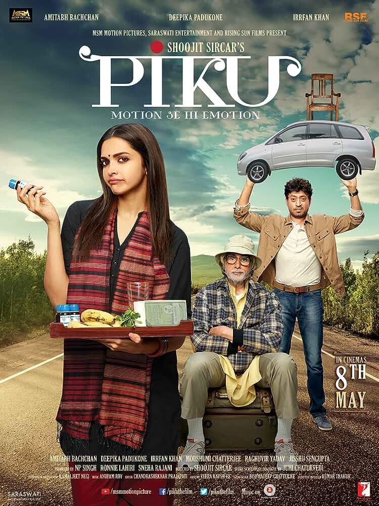 Download Piku (2015) Full Movie In Hindi Bluray 480p [350MB] | 720p [900MB] | 1080p [1.8GB]