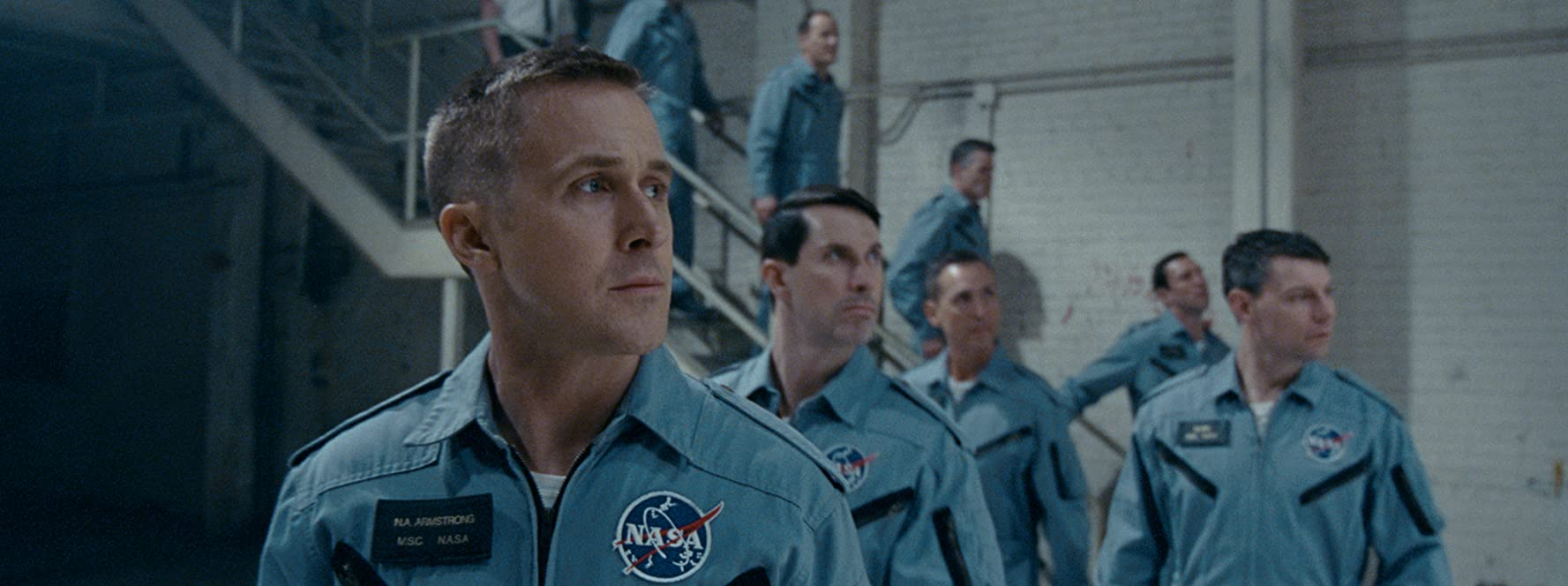 Patrick Fugit, Ryan Gosling, and Shawn Eric Jones in First Man (2018)