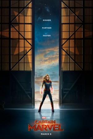 Hasil gambar untuk captain marvel 2019 poster