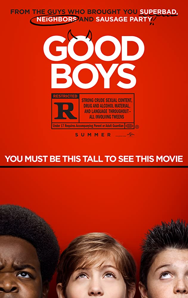 Brady Noon, Jacob Tremblay, and Keith L. Williams in Good Boys Poster (2019)