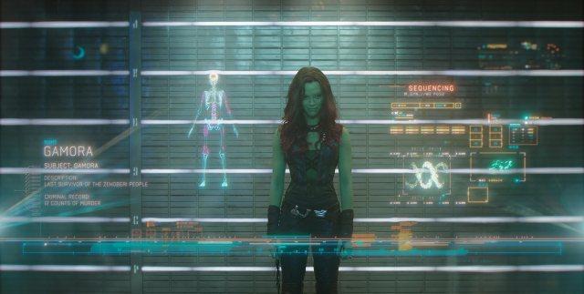 Zoe Saldana in Guardians of the Galaxy (2014)