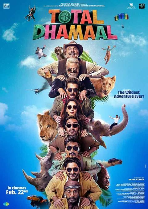 Download Total Dhamaal (2019) Hindi Full Movie BluRay 480p [450MB] | 720p [1GB] | 1080p [2GB]