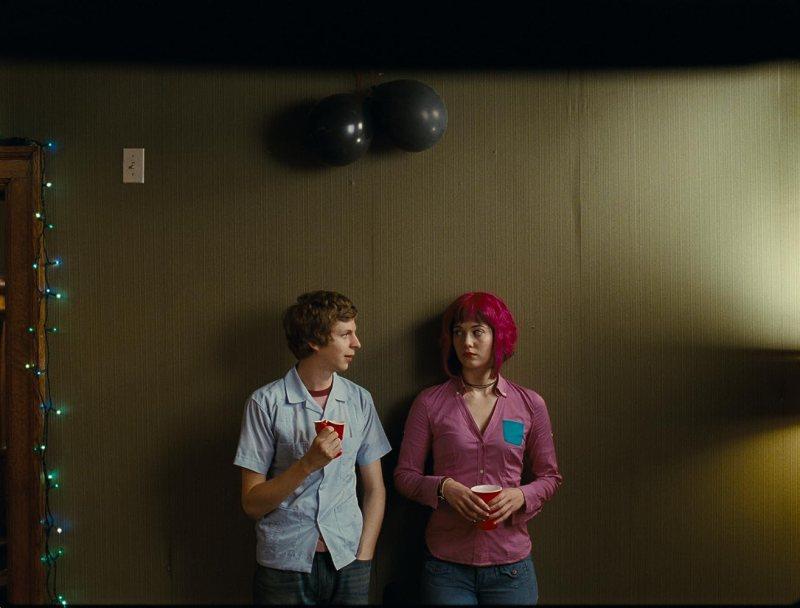 Michael Cera and Mary Elizabeth Winstead in Scott Pilgrim vs. the World (2010)